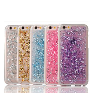Gold Bling Paillette Sequin Skin Clear Soft TPU Shell Case Ultra Slim Rubber Back Cover For iPhone 5 5S SE 6 6S 6 6S Plus Cases