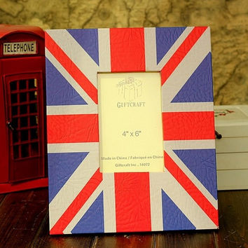 Retro Style UK British Flag Home Decor Table Photo Frame Picture Frame 6'' x 4''