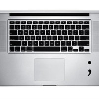 Semicolon vinyl decal for appl Macbook Dell HP Laptop Computer / Car window Sticker Lots of Colors window decal pause smartphone iphone