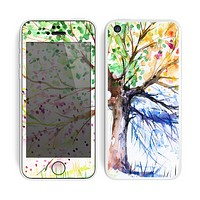 The WaterColor Vivid Tree Skin for the Apple iPhone 5c