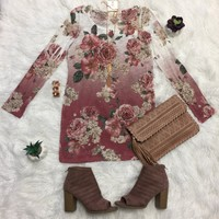 Fall in Love Floral Tunic