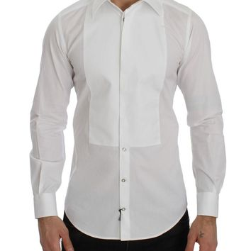 White GOLD Smoking Slim Fit Dress Shirt