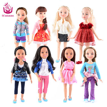 "2016 NEW 8 Models 18"" Blonde/Brown Hair 45cm Girl Doll Realistic Baby Toys Birthday Gift  for Girls As American Girl Dolls"