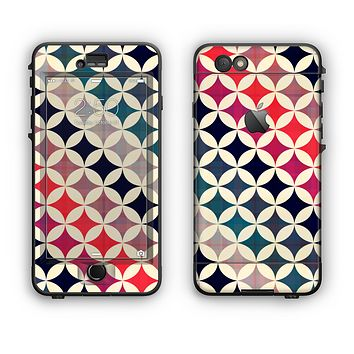 The Overlapping Retro Circles Apple iPhone 6 Plus LifeProof Nuud Case Skin Set