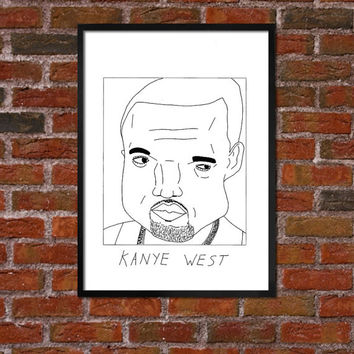 Badly Drawn Kanye West - Yeezy - Poster