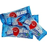 AirHeads Taffy Mini Candy Bars - Blue Raspberry: 25LB Case