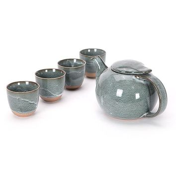 Japanese Teapot and Tea Cup set