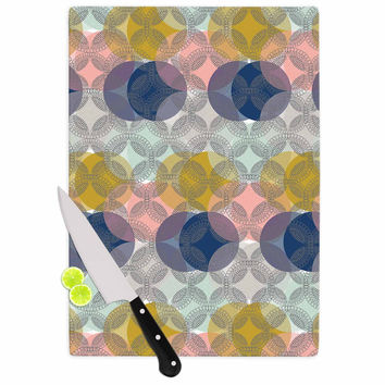 "Maike Thoma ""Retro Spring"" Blue Pink Cutting Board"