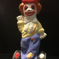 5 DAY SALE (Ends Soon) 1970s Vintage Clown Bank