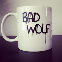 "Doctor Who ""Bad Wolf"" coffee mug #badwolf #doctorwho #coffeemug"