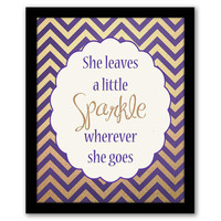 She Leaves A Little Sparkle, Girl's Nursery, Home Decor, Sparkle Art Print, Dorm Room Decor, Girls Room, Graduation Gift, INSTANT DOWNLOAD.