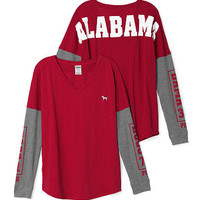 University of Alabama Long Sleeve V-neck Tee - PINK - Victoria's Secret