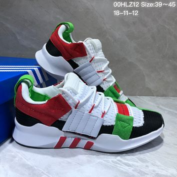 kuyou A357 Adidas EQT-7 Climacool Mesh Running Shoes White Red Green