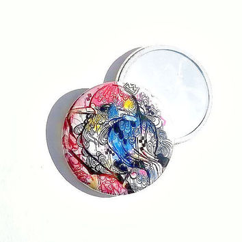 Pocket Mirror - Compact Mirror - Art Pocket Mirror -  Mini Pocket Mirror - Small Mirror - Beauty Gift - Cosmetic  Mirror - Cosmetic gift