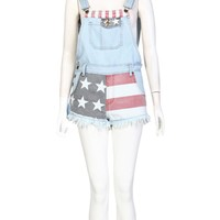 American Flag Denim Dungaree - Find Cheap Clothes - Cheap Clothing - Womens £5 Fashion | Missrebel