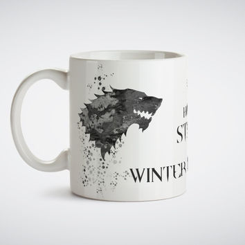 Game thrones House Stark coffee mugs morph  gifts magical heat sensitive Black colour change morphing Tea mugen white mug