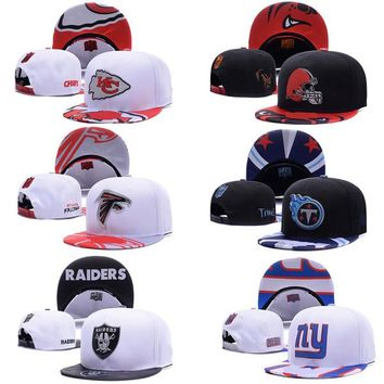 Football Adjustable Snap backs Hats Caps