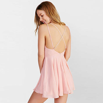 Adjustable Spaghetti Criss Cross Strap Dress
