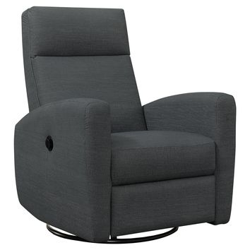 Reclining Chair - Power Swivel Glider / Charcoal Grey