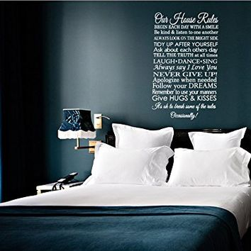 Our House Rules Wall decal - Family Rules Wall decal - In this house wall decal - Family decal - Love Wall Decal kau447