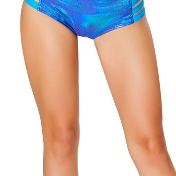 J-Valentine Blue No Seam Strappy shorts