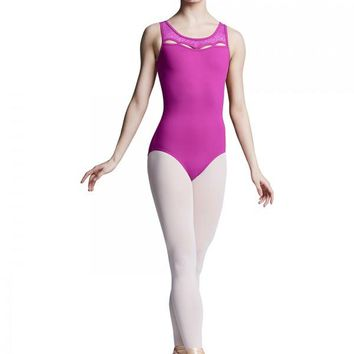 Bloch Women's Azalea Keyhole Neck Open Back Tank Leotard