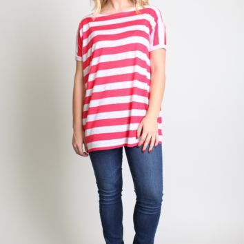 Piko 1988 Thick Striped Short Sleeve Top