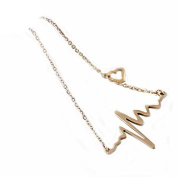 EKG Heartbeat Necklace