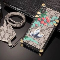 Butterfly GG Monogram Trunk Case w/ Earphone Holder