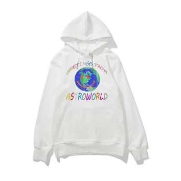 Astroworld Sweatshirt Men Women Casual Hip Hop Streetwear White Hoodies Long Sleeve Pullover Crewneck Sweatshirts Streetwear