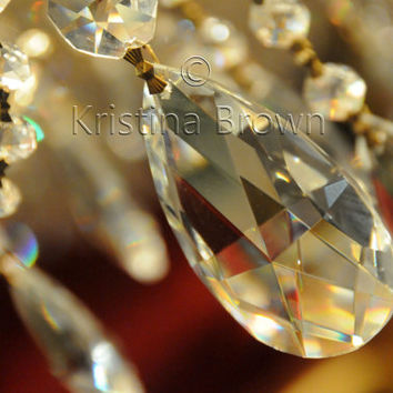Chandelier Photo, Art Photography, Still Life Picture, Bright, Sparkle, Shine, Gold, Gleaming Crystal, Fancy, Fine Art Print, Wall Art