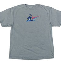 NC Flag Logo Recover 50/50 Tee - Classic Grey
