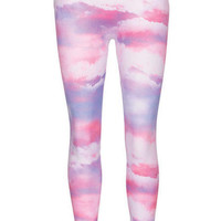 Cloud Printed Seamless Legging