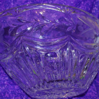 Vintage Mid-Century Retro Crystal Large Covered Candy Dish - Edit Listing - Etsy