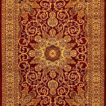 1001 Red Isfahan Oriental Area Rugs