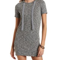 Ribbed Hooded Shift Dress by Charlotte Russe