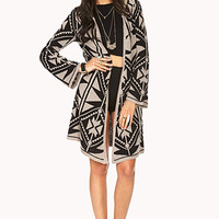 World Traveler Tribal Print Cardigan