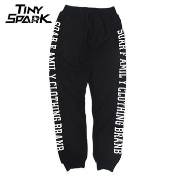 Hip Hop Men Jogger Sweat Pants Cotton Big Letters Luxury Sweat Pants Black Trousers Men Warm Pants For Winter Autumn