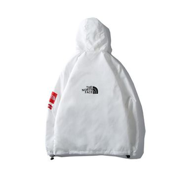 The North Face autumn and winter new tide brand waterproof and windproof jacket couple hooded jacket White