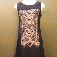 Embroidered Shift Tunic Dress