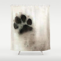I Paw You - Dog Art By Sharon Cummings Shower Curtain by Sharon Cummings