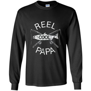 Father's Day Shirt Gift Fishing Reel Cool Papa Dad Gift