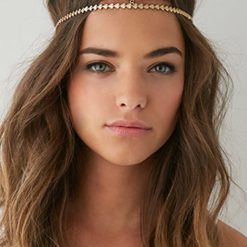 Metallic Heart Head Piece