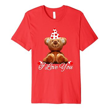 Cute I Love You Valentine's Day Bear T Shirt