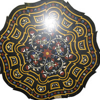 Semi Precious stone inlaid Marble Table Top