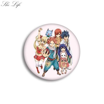 Japanese Anime Badge Pin Fairy Tail Cosplay Collection Props Brooch Bag Clothes Accessories