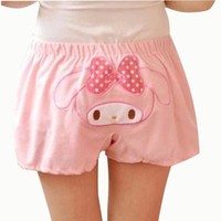 VOBAGA® Womens San-X Rilakkuma Lounge Pant Sleep Shorts Sleepwear Pink