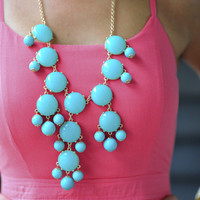 The Bright Teal Crew Necklace | Hope's