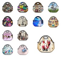 Beautiful Swirl Insulated Thermal Neoprene Lunch Bag Tote Handbag Coller Box  Picnic Travel Lunchbox Handbag Waterproof Washable