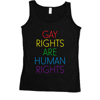 Gay Rights Are Human Rights -- Women's Tanktop